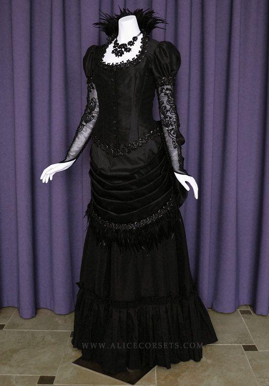 Victorian Steampunk Gothic Bustle Dress  Witch Vampire Ball #dollvictoriandressstyles