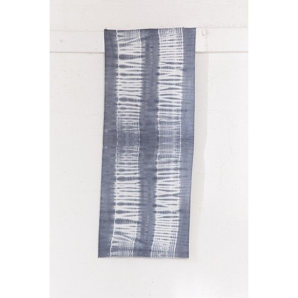 Shibori Dyed Tapestry (38 CAD) ❤ liked on Polyvore featuring home, home decor, wall art, urban outfitters, urban outfitters wall art and tapestry wall art