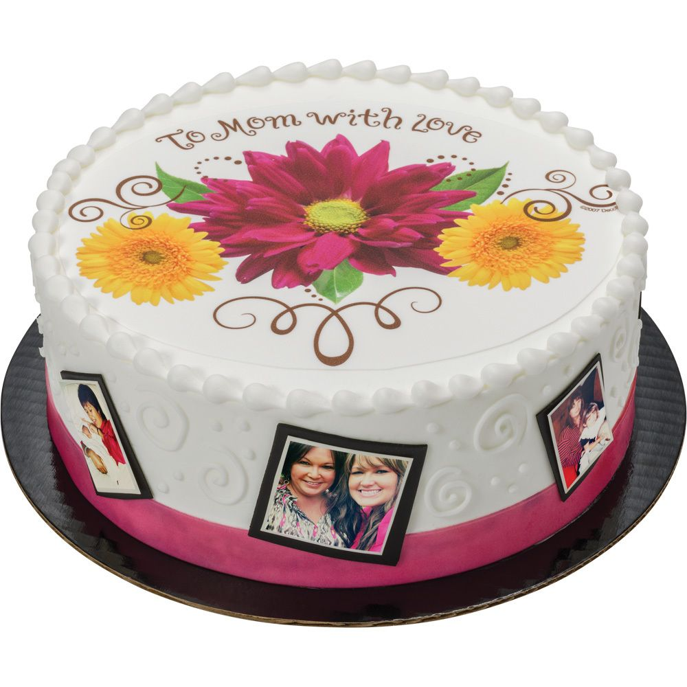 Custom Edible Image Toppers Create Your Own Edible Image Or Choose From Our Great Selection Of Collages And More Photo Cake Cake Mothers Day Cake