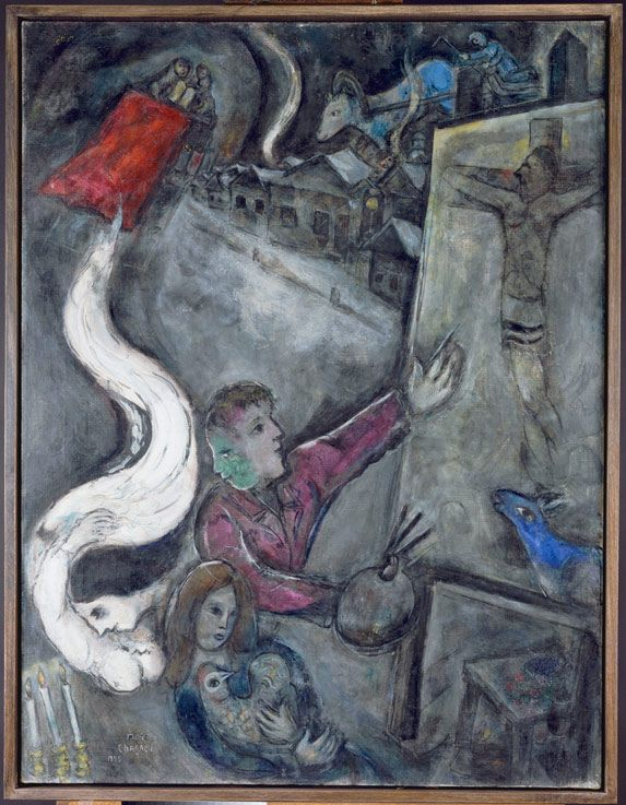 Marc Chagall - 1945, The Soul of the City Oil on canvas. Centre Georges Pompidou