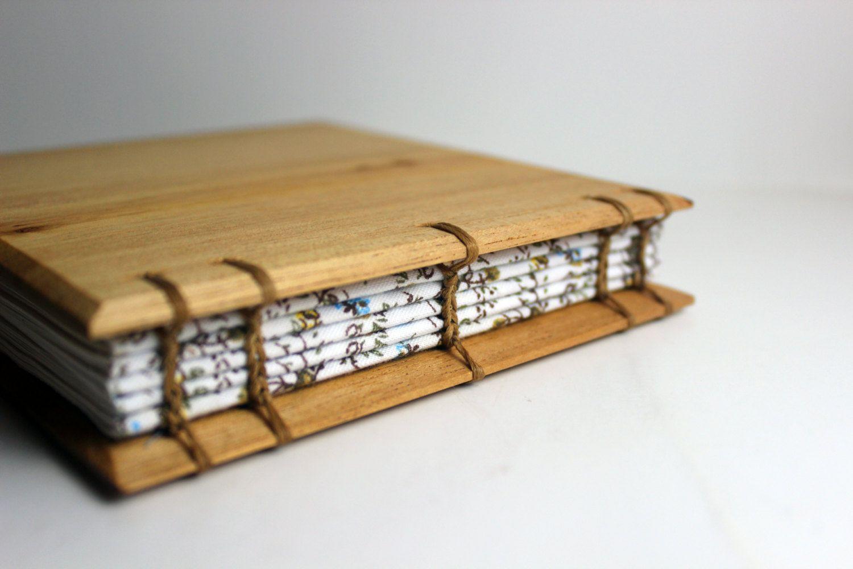 cedar wood covered handbound journal wooden sketchbook blank