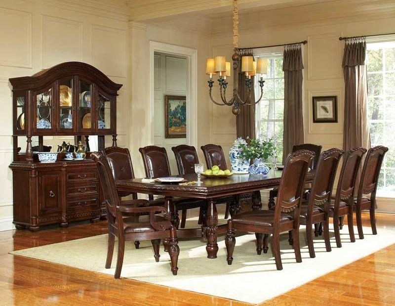 Antoinette Formal Dining Room Set with Pedestal Table