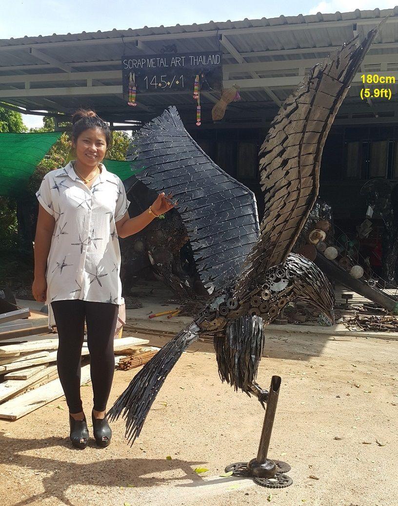 eagle statue/sculpture, life size scrap metal art for sale ...