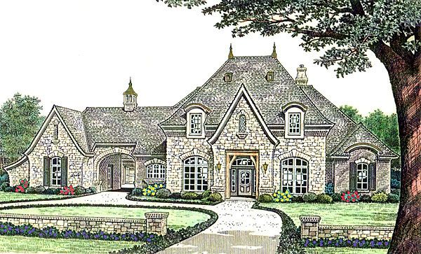 Southern Style House Plan 66237 With 3 Bed 4 Bath 3 Car Garage French Country Exterior Country Style House Plans French Country House Plans