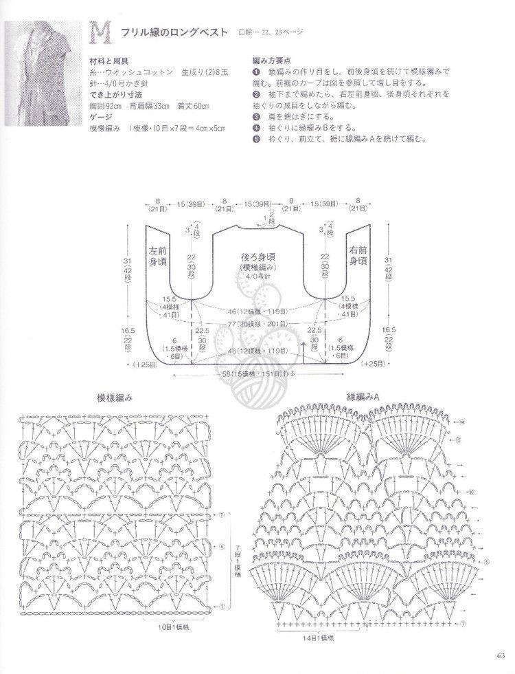 【转载】パイナツプル編みのウエア 美しい透かし模樣のニツト - 费米的日志 - 网易博客