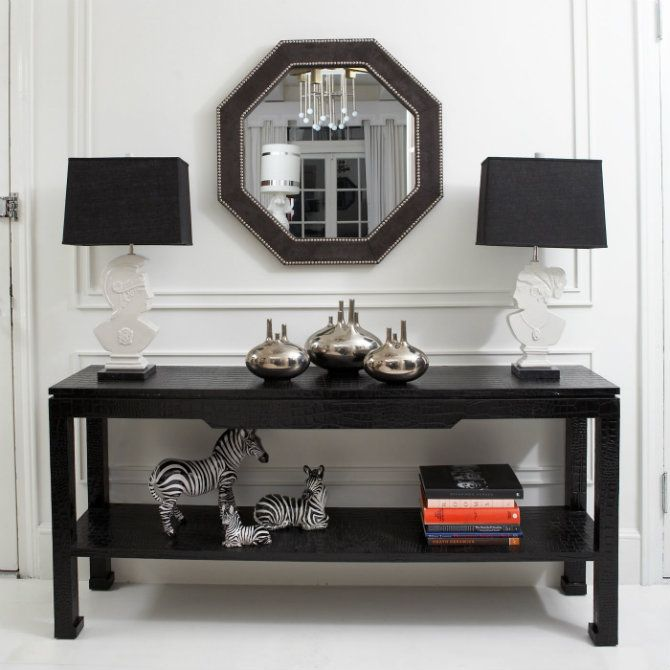 7 Black Consoles For The Elegant Household Black Console Table Console Furniture Contemporary Console Table