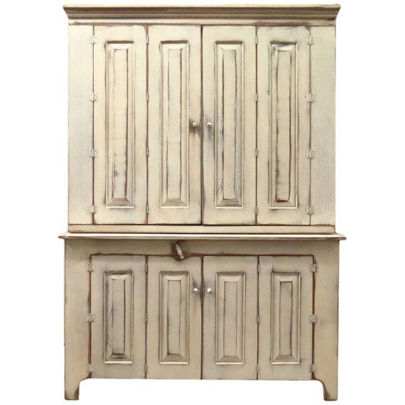 how awesome would this be to keep all of your party supplies/hostess supplies.  Shabby Cottage Chic TV Cabinet with BiFold Wrap by ShakaStudios, $3314.00
