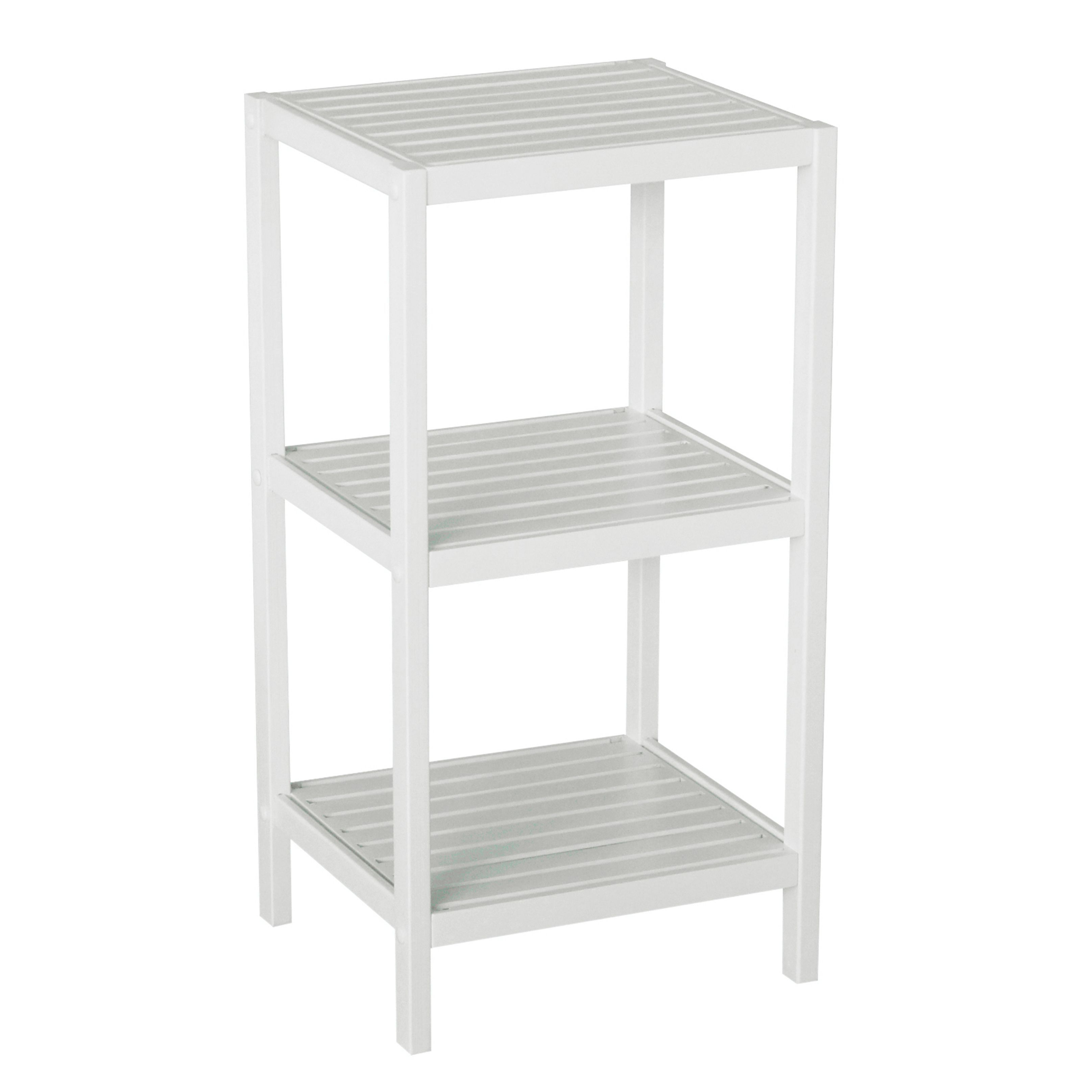 Bamboo Natural Spa 3-shelf Tower (Brown) | Tower, Spa and Shelves