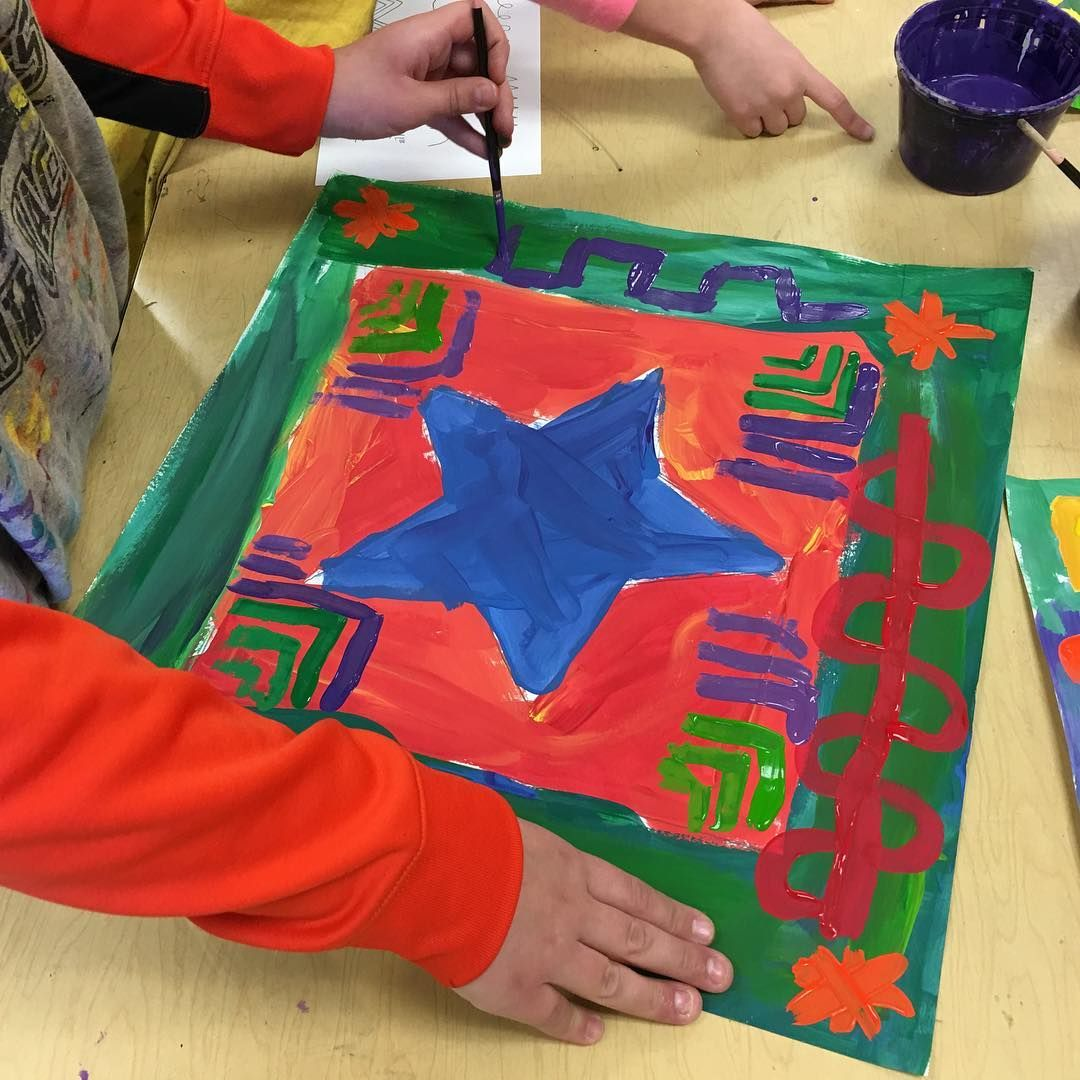 """40 Likes, 1 Comments - Ginger Bowerman Pacer (@paintbrushrocket) on Instagram: """"3rd Grade Peter Max Stars getting some decorative lines! Great job Miss Andrews! #painting…"""""""