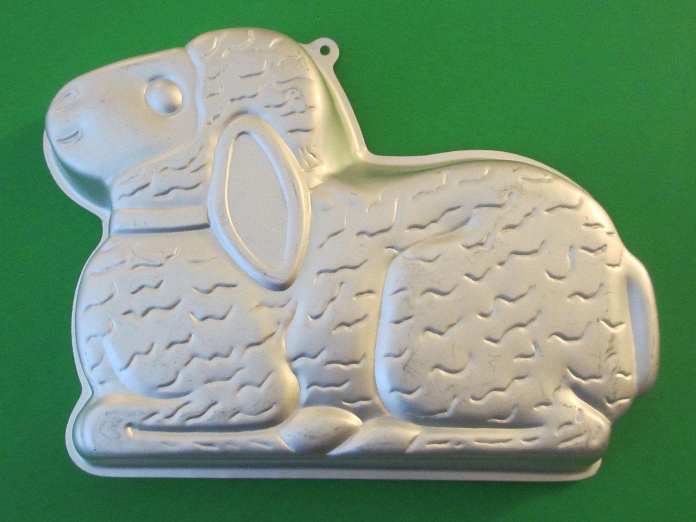 Wilton Aluminum Easter Lamb Cake Mold 2514 By KitschMerchant