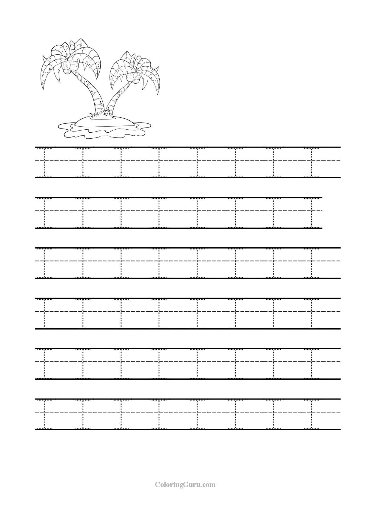 Free Printable Tracing Letter I Worksheets For Preschool