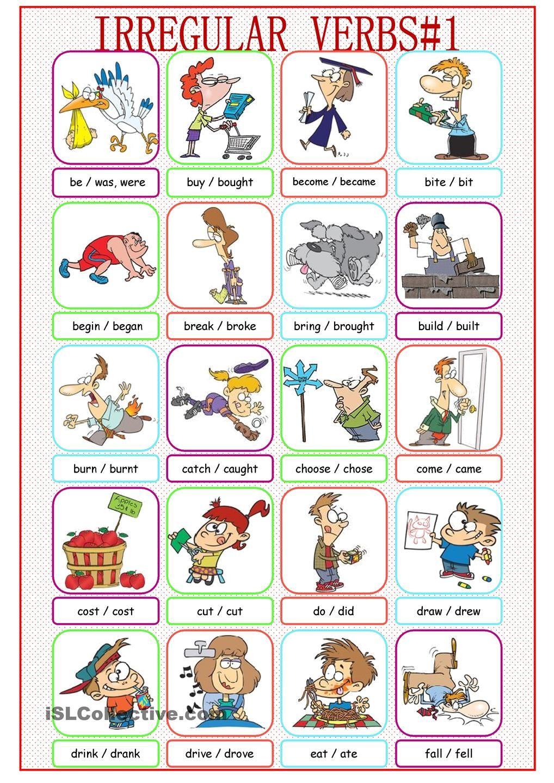 Irregular Verbs Picture Dictionary 1 Irregular Verbs Picture Dictionary Verbs List [ 1440 x 1018 Pixel ]