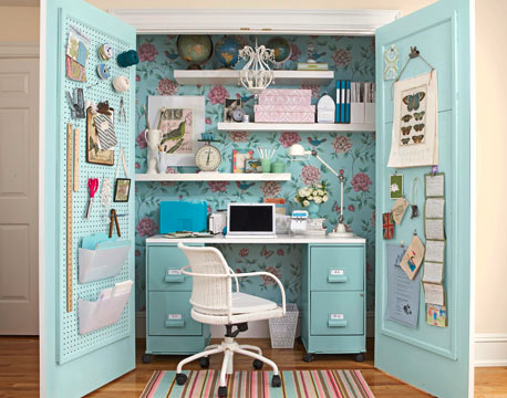 Cool Closet Office Storage Office Storage Organize Organization Organizer Organizing Organization Ideas Small Sewing Rooms Small Home Office Craft Room Office