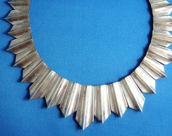 Antonio Pineda and Los Costillo Necklace, Sterling Silver, Estate Jewelry, Modernist, Taxco Mexico