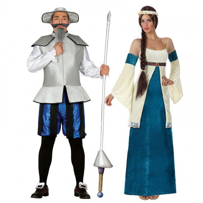 17cc74989 Pareja Quijote y Dulcinea Azules en 2019   disfraz   Disfraces ...