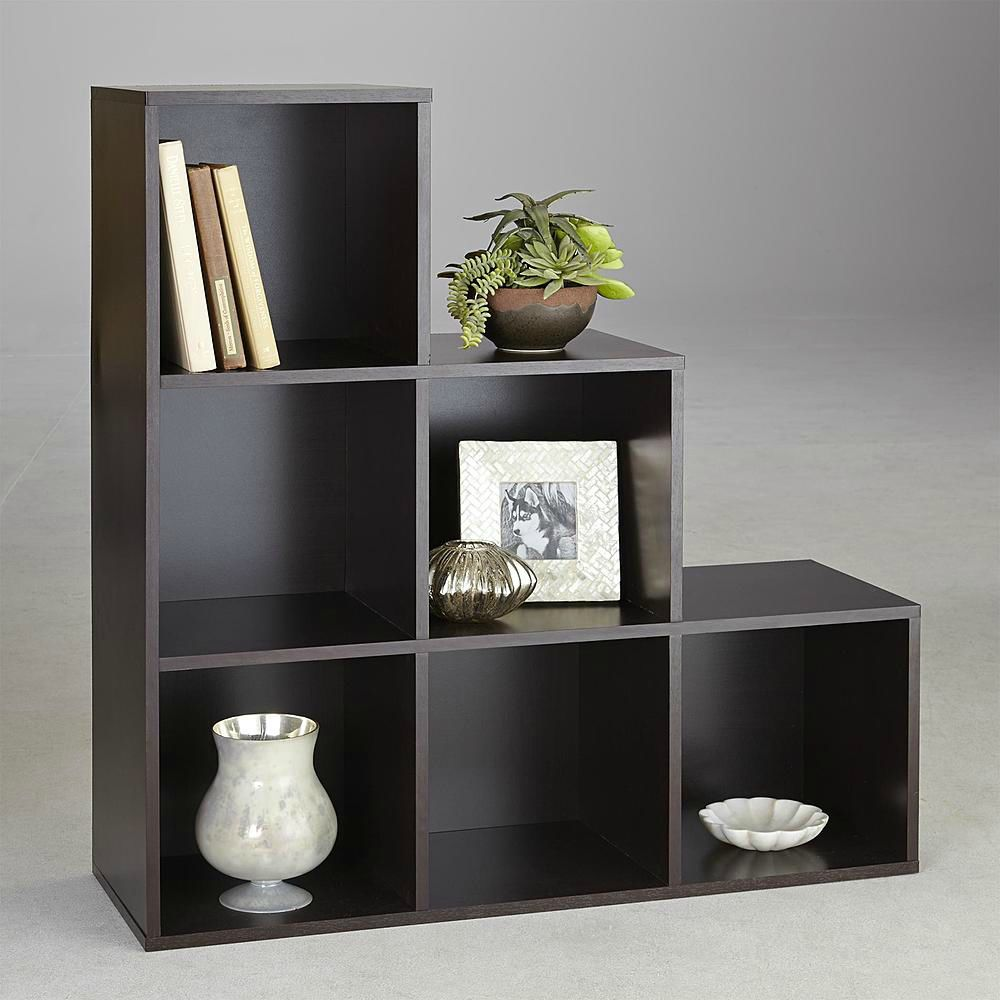 6Cube Storage Step Units Wood Shelving Bookcase Home Office