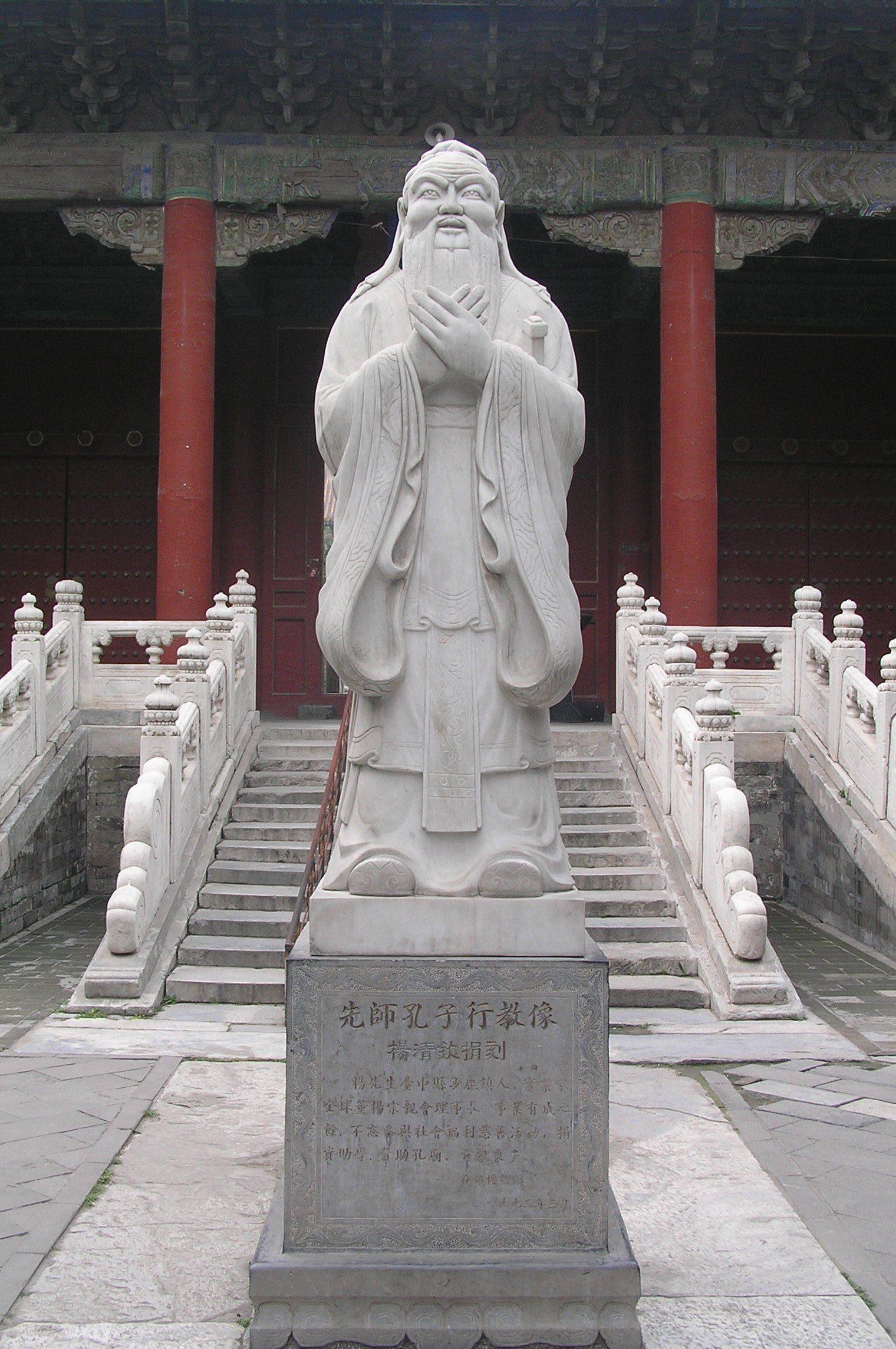 Confucius Statue At Confucius Temple In Beijing, China  Confucius