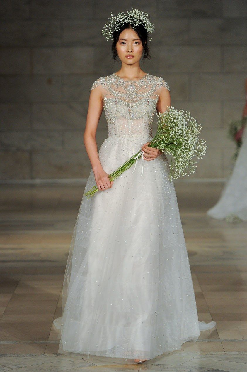 Reem acra bridal fall fashion show reem acra bridal