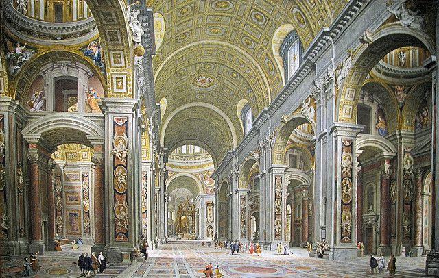 Interno delle Basilica di San Pietro, dall'entrata | Flickr: partage de photos!
