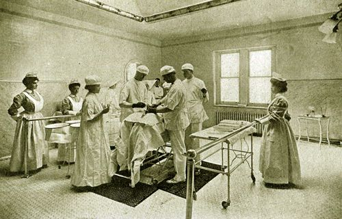St. Joseph Hospital operating room, ca. 1900