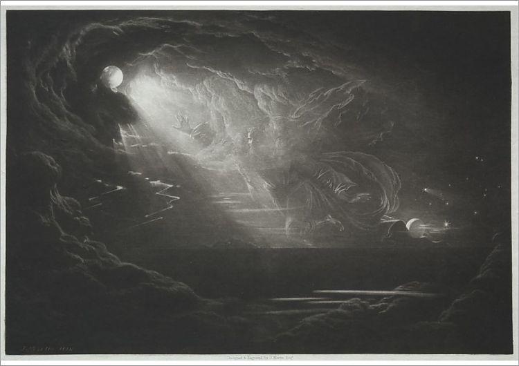John Martin Fine Art Print//Poster Satan Arousing the Fallen Angels