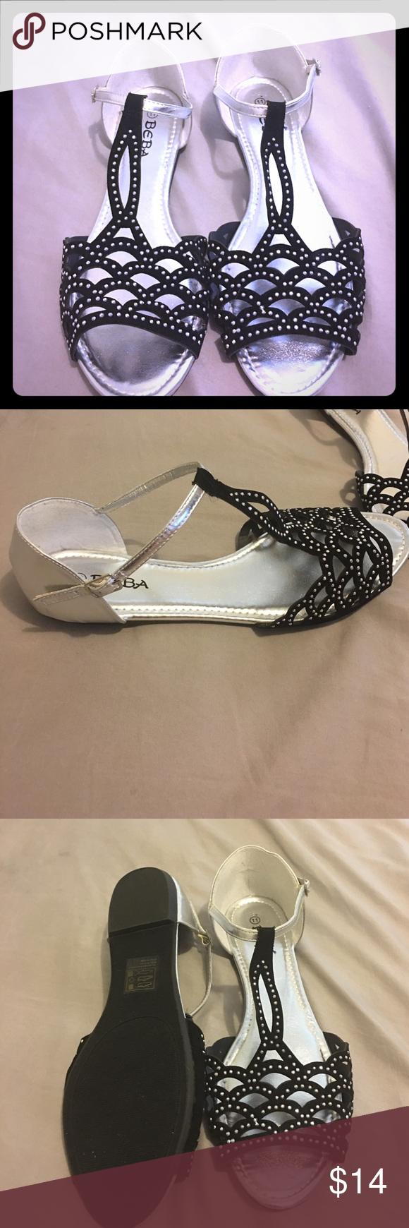 Black sandals size 11 -  New Beba Sandal Size 11 Nwt