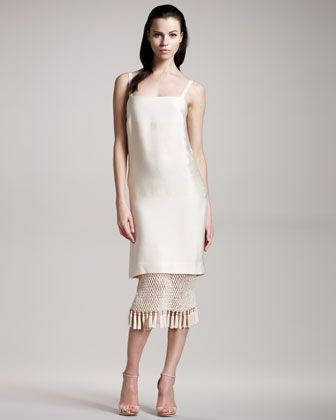 Crochet Tassel Sweep Dress by THE ROW at Last Call by Neiman Marcus.