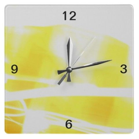 Summer Wall Clock - JUSTART on Zazzle