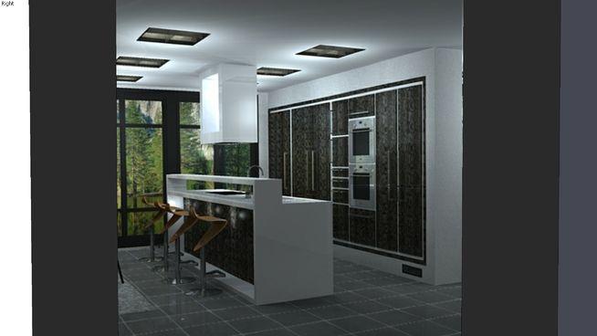 cucina in stile moderno con isola #arredamento #arredo #bar #casa ...