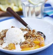 Get the recipe: Peach Caramel Crisp by MCC Chef Tom Douglas #macys #recipe #desserts