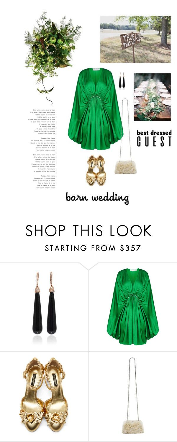 """Barn Wedding"" by hellodollface ❤ liked on Polyvore featuring SUSAN FOSTER, STELLA McCARTNEY, Dolce&Gabbana, Kate Spade, bestdressedguest and barnwedding"