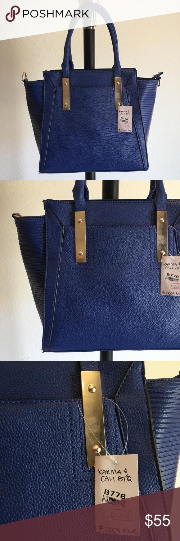 Blue Buxom Handbag Purse Boutique