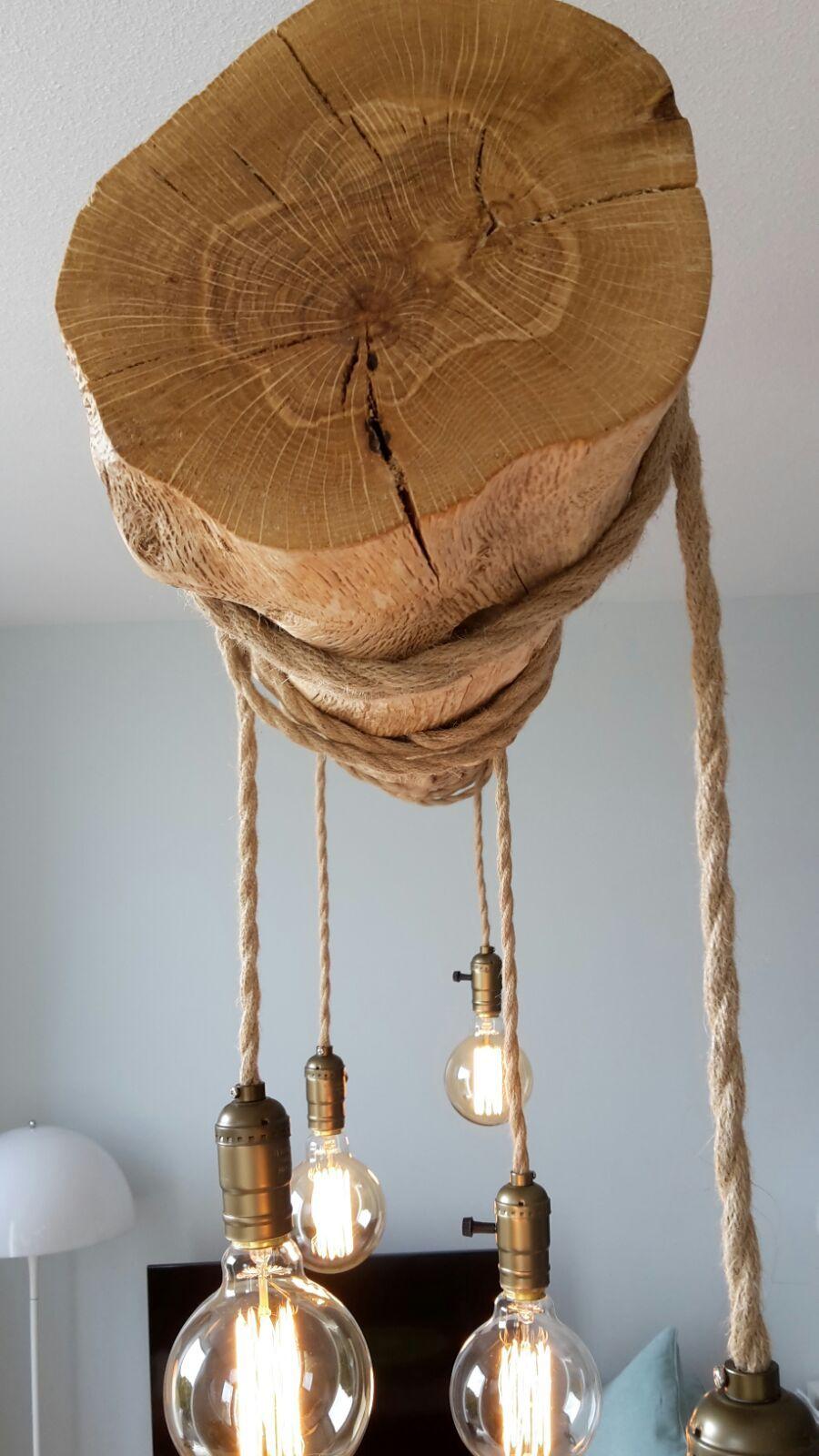 Boomstam lamp the garden for Lampen en verlichting