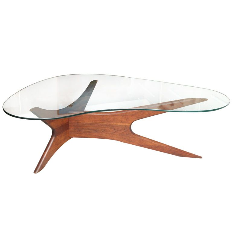 sculptured danish 60 s coffee table in