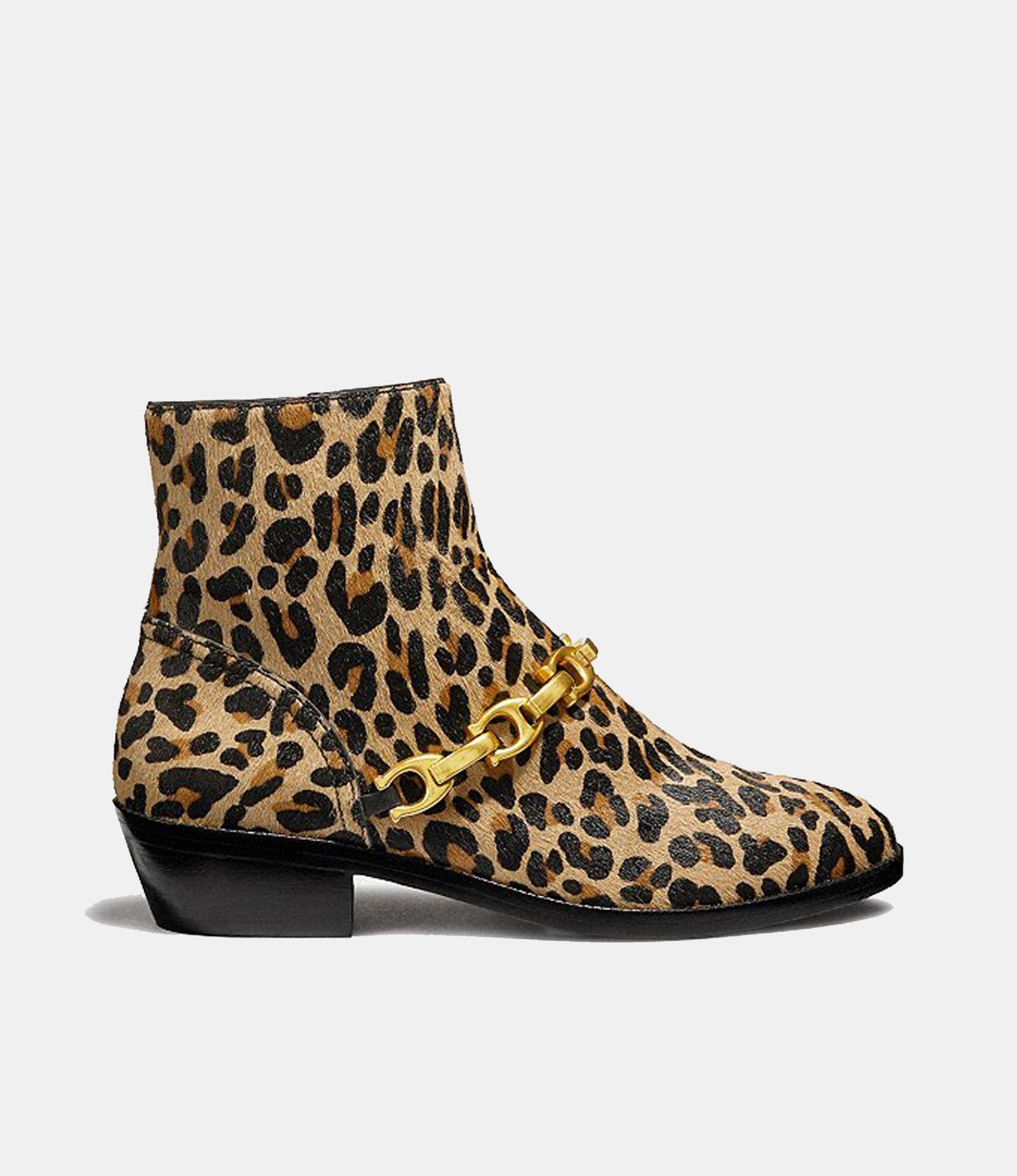 Maja Leopard Print Haircalf Suede Ankle Boots | Shoes | L