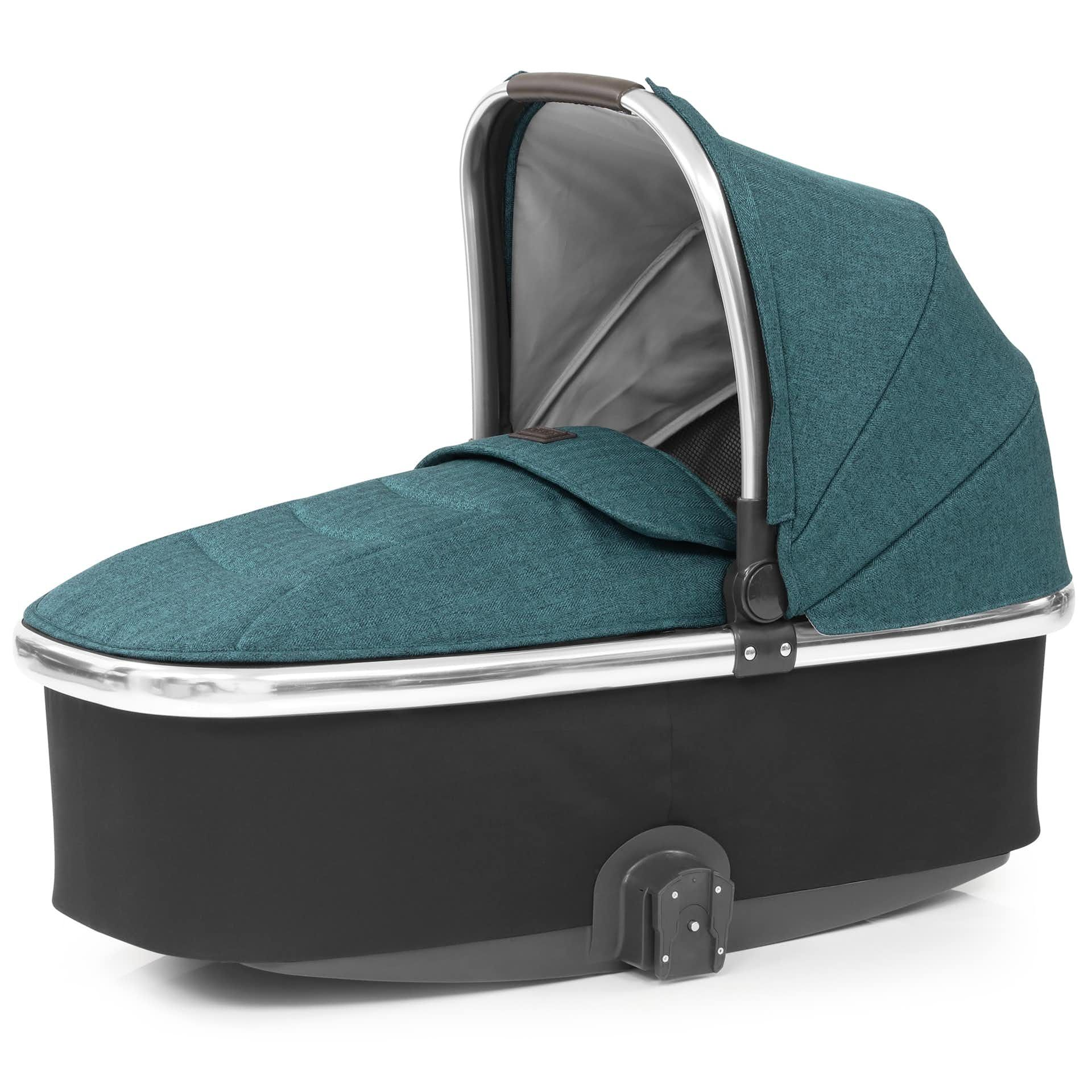 Oyster Double Pram Mothercare Oyster O3ccpa Oyster 3 Mirror Finish Carrycot Peacock