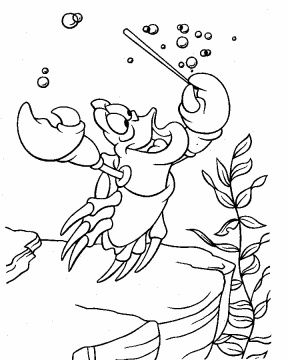 Sebastian Ariel Coloring Pages Disney Coloring Pages Mermaid
