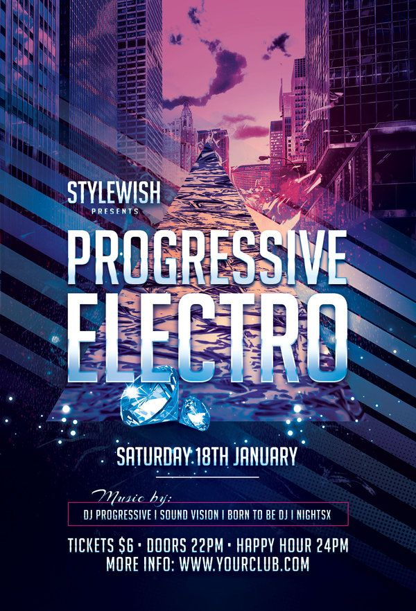 Progressive Electro Flyer by styleWish on Graphicriver (Download the - electro flyer