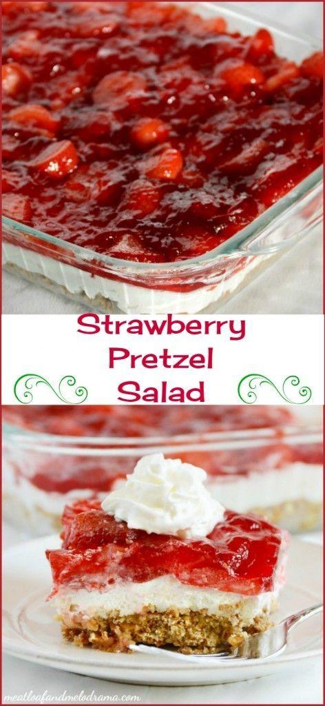 Strawberry Pretzel Salad - Meatloaf and Melodrama