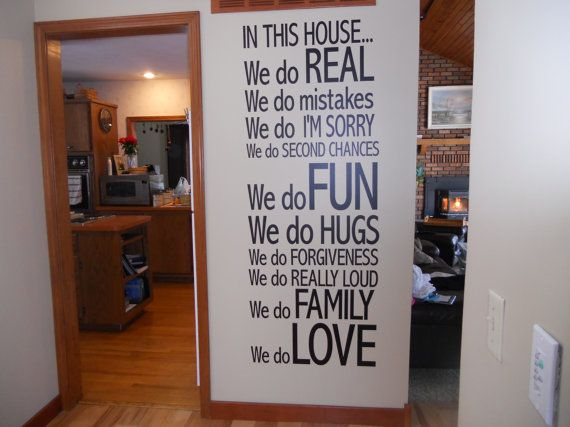 in this house wall decal wall decals house wall on wall stickers for home id=71275
