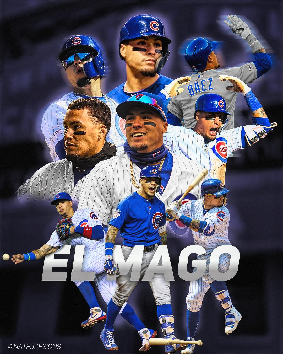 Mlb Edit Javier Baez Chicago Cubs On Behance Mlb Chicago Cubs Chicago Cubs Wallpaper Chicago Cubs