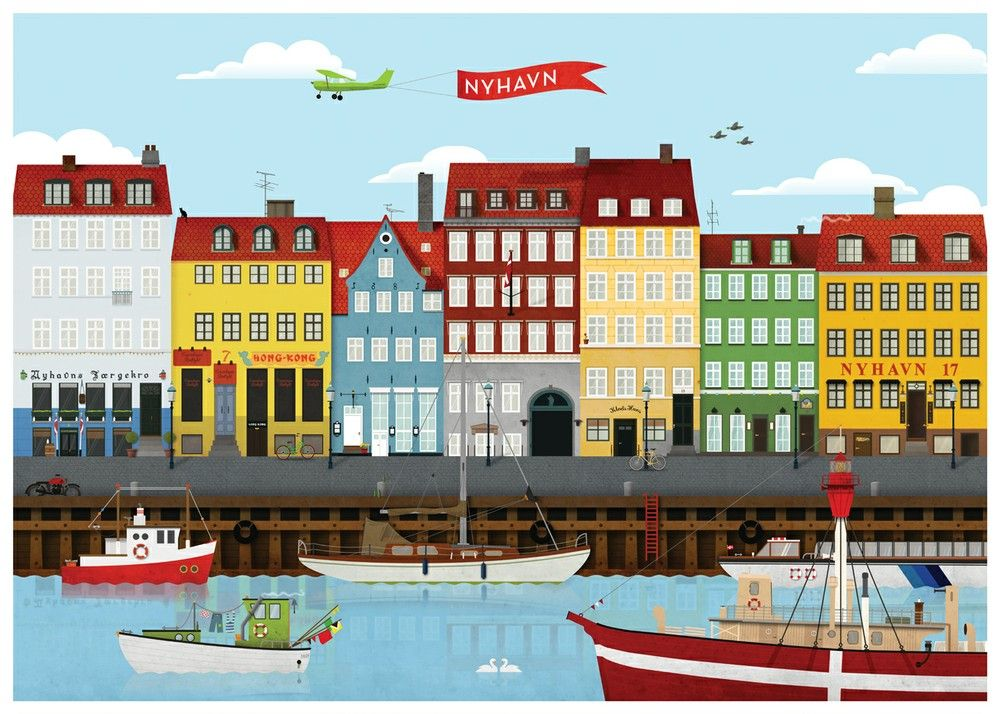 The Nyhavn Poster By Standard Studio Billeder Fotos Plakater