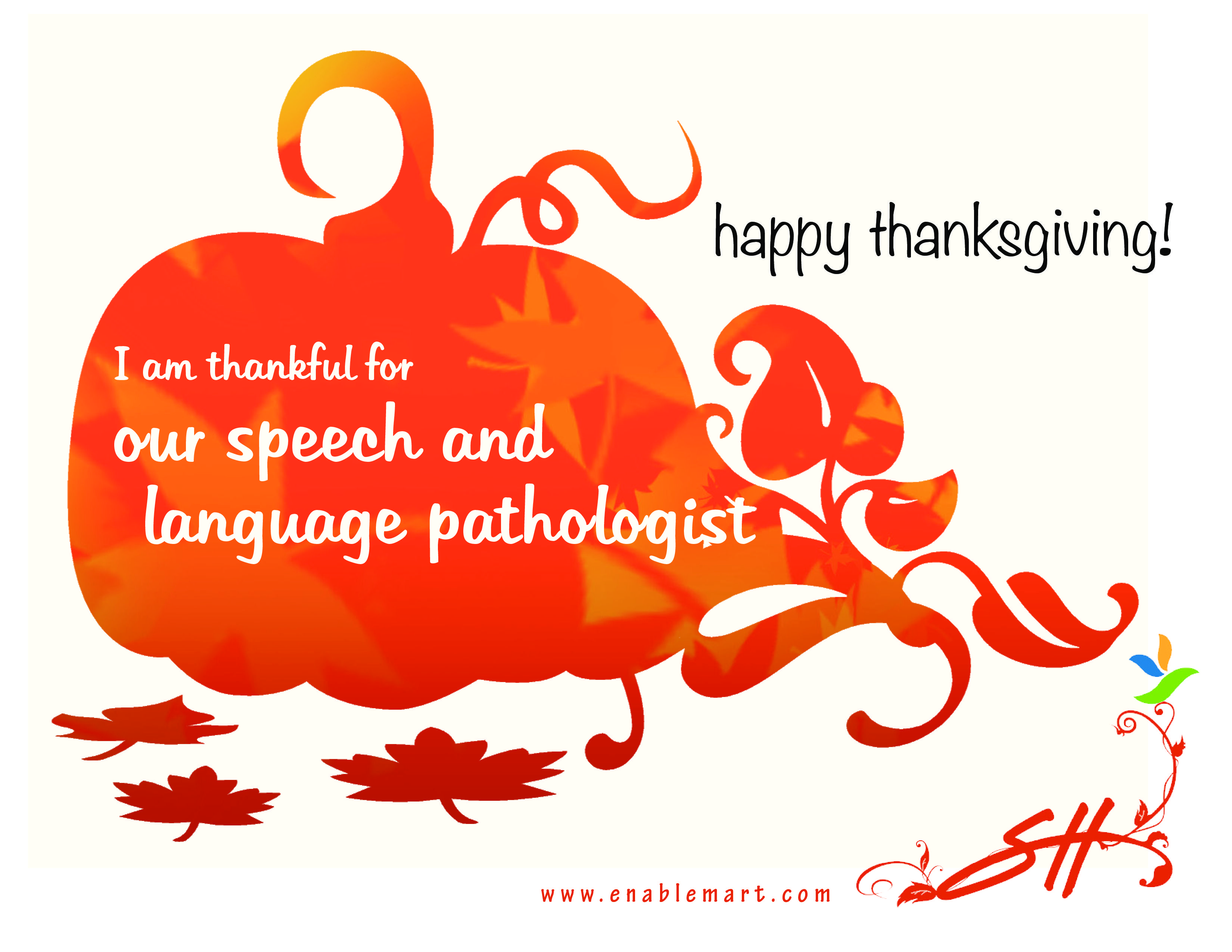 Thankful for my SLP! Download free printable http//www