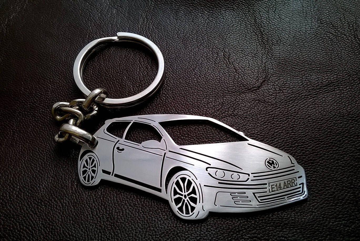 Volkswagen scirocco keychain volkswagen vw keychain vw scirocco personalized key chain