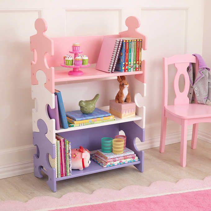 KidKraft® Puzzle Book Shelf – Pastel