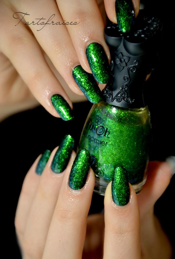 Nfu Oh # 56 - Green Flakies #nailpolish   Nueva nails   Pinterest ...