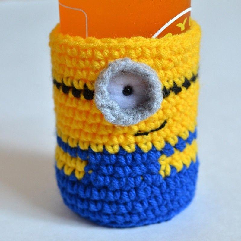 Crochet Minion Bottle Cosy | Crochet Animals, Dolls and Toys ...