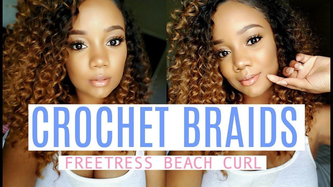 MY FIRST TIME......doing crochet braids! Freetress Beach Curl [Video ...