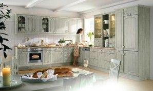 Küchenschrank ahorn ~ Landhausküche ahorn grün home küche landhaus