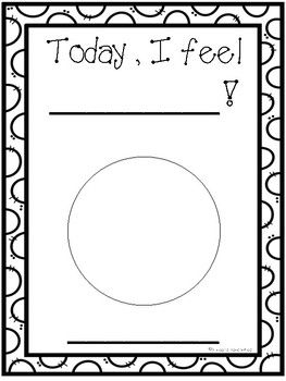 FREE RESOURCE!! Today I Feel...(Social & Emotional